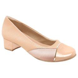 Sapato Social Feminino para Joanete - Bege - MA103121B - Pé Relax Sapatos Confortáveis