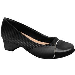 Sapato Social Feminino para Joanete - Preto Snake - MA103121PS - Pé Relax Sapatos Confortáveis
