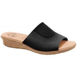 Tamanco para Joanete Feminino - Preto / Sola Areia - MA10061PTAVLI - Pé Relax Sapatos Confortáveis