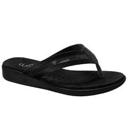Chinelo Anatômico Feminino - Preto Sola Preta - MA14035PT - Pé Relax Sapatos Confortáveis