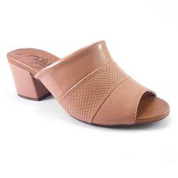 Tamanco Mule Feminino - Bege - MA176074B - Pé Relax Sapatos Confortáveis