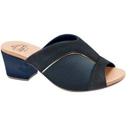 Tamanco Mule para Joanete - Azul - MA176084AZ - Pé Relax Sapatos Confortáveis