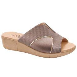 Tamanco para Joanete - Snake Sépia - MA585018NI - Pé Relax Sapatos Confortáveis