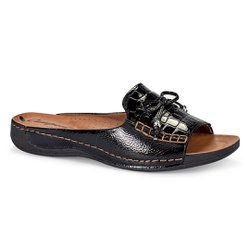 Tamanco Ortopédico Feminino - Preto - CAL6831PT - Pé Relax Sapatos Confortáveis