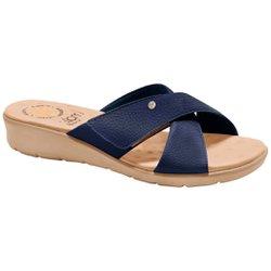 Tamanco Confort Feminino - Azul - MA10075AZ - Pé Relax Sapatos Confortáveis