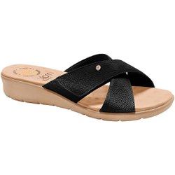 Tamanco Confort Feminino - Preto Sola Areia - MA10075PT - Pé Relax Sapatos Confortáveis