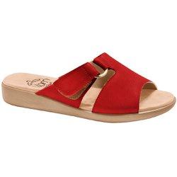 Tamanco Confortável Feminino - Vermelho - MA14042VM - Pé Relax Sapatos Confortáveis