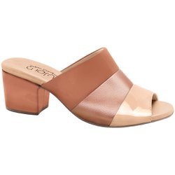 Tamanco Mule Feminino - New Indiana Bistro Tricolor - MA176074TRI - Pé Relax Sapatos Confortáveis