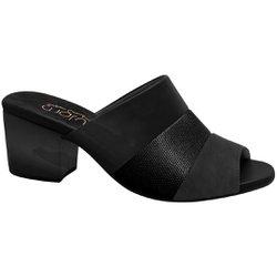 Tamanco Mule Feminino - Preto Soft - MA176074PT - Pé Relax Sapatos Confortáveis