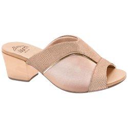 Tamanco Mule para Joanete -Lezard Nude - MA176084B - Pé Relax Sapatos Confortáveis