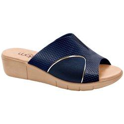 Tamanco para Joanete - Snake Azul - MA585018A - Pé Relax Sapatos Confortáveis