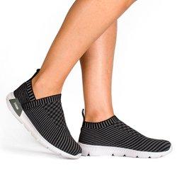 Tênis para Caminhada Feminino - Preto - KOK8484PT - Pé Relax Sapatos Confortáveis