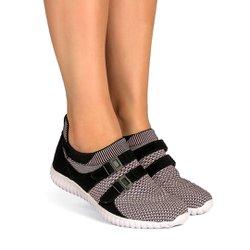 Tênis Caminhada Feminino - Rosado - KOK8528RO - Pé Relax Sapatos Confortáveis