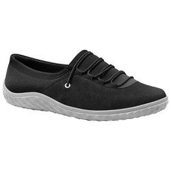 Tênis Lycra Feminino - Preto - MA421028P - Pé Relax Sapatos Confortáveis