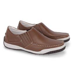 Sapato Mocassim Masculino - Pinhão - FB6011PI - Pé Relax Sapatos Confortáveis