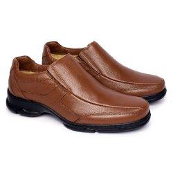 Sapato Masculino Couro - Marrom - FB2003M - Pé Relax Sapatos Confortáveis