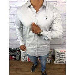 45f3990ef8bd9 Camisa Manga Longa Ralph Lauren - Cinza Claro - CN.