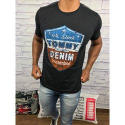 Camiseta Tommy Hilfiger - Preta - CMTM890 a8eb78aa2e3