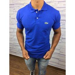 Polo Lacoste Azul Bic com botão branco - PL01 9e6672868c9a2