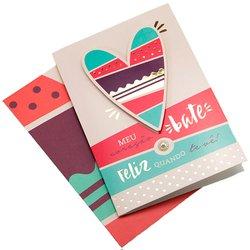 Cartão Coração Feliz