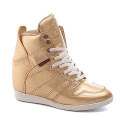 Tênis Sneaker LandFeet Cris Piza 02 Dourado