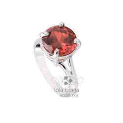Anéis de Prata Feminino Aparador Meia Aliança com Pedras   LOLA ... 438ecd0dca