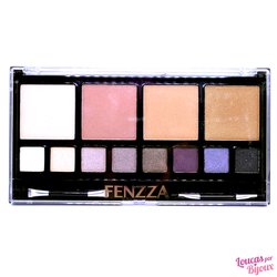 Kit Faces-Pó Compacto e Sombras Fenzza Make Up