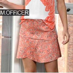 Saia Curta M. Officer Paisley Orange