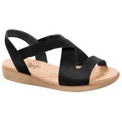 Sandália Feminina para Esporão - Preta - MA14034PT - Pé Relax Sapatos Confortáveis