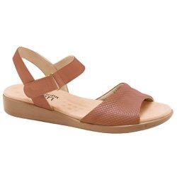 Sandália Feminina Anatômica - Marrom - MA14018M - Pé Relax Sapatos Confortáveis