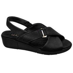 Sandália Preta para Esporão - MA585004TP - Pé Relax Sapatos Confortáveis