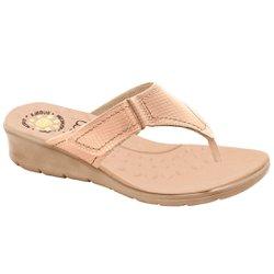 Chinelo Confort Feminino - Bege - MA10007NB - Pé Relax Sapatos Confortáveis