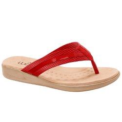 Chinelo Anatômico Feminino - Vermelho - MA14035VM - Pé Relax Sapatos Confortáveis
