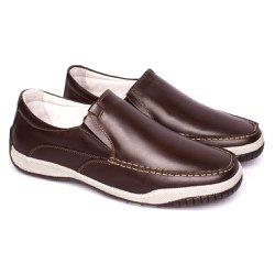 Mocassim Masculino Confort Tamanho Grande - Marrom - FB6000M - TG - Pé Relax Sapatos Confortáveis
