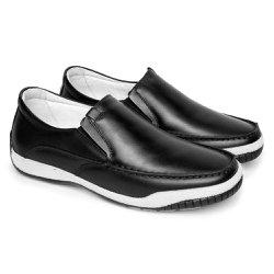 Mocassim Masculino Confort Tamanho Grande - Preto - FB6000P - TG - Pé Relax Sapatos Confortáveis