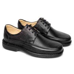 Sapato Masculino Tamanho Grande - Preto - FB602P - TG - Pé Relax Sapatos Confortáveis