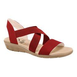 Sandália Confort Feminina - Vermelha - MA10062V - Pé Relax Sapatos Confortáveis