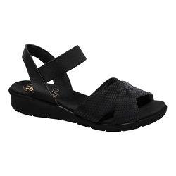 Sandália Para Senhoras - Preta - MA10064P - Pé Relax Sapatos Confortáveis