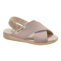 Sandália Feminina Ortopédica - Bege - MA14031B - Pé Relax Sapatos Confortáveis