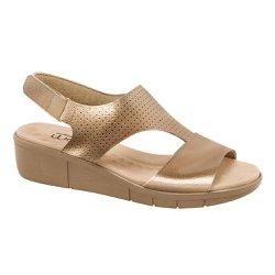 Sandália Anatômica Feminina - Bronze - MA585002BZ - Pé Relax Sapatos Confortáveis