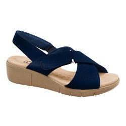 Sandália Ortopédica Feminina - Azul Marinho - MA585004AM - Pé Relax Sapatos Confortáveis