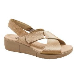 Sandália Ortopédica Feminina - Ouro Velho - MA585004OV - Pé Relax Sapatos Confortáveis