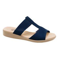 Tamanco Feminino Anatômico - Azul - MA14016A - Pé Relax Sapatos Confortáveis