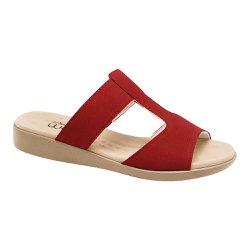Tamanco Feminino Anatômico - Vermelho - MA14016V - Pé Relax Sapatos Confortáveis