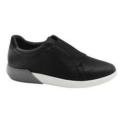 Tênis Casual Feminino - Preto - MA633010P - Pé Relax Sapatos Confortáveis
