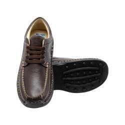 Sapato Masculino Casual - Marrom - FB16000M - Pé Relax Sapatos Confortáveis