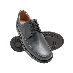 Sapato Masculino Confortável - Preto - FB602P - Pé Relax Sapatos Confortáveis