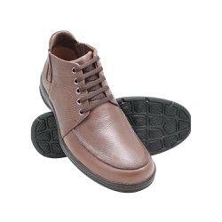 Botinha Masculina Couro - Marrom - FB2093M - Pé Relax Sapatos Confortáveis