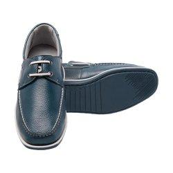Mocassim Masculino Azul - Pé Relax - FB30050A - Pé Relax Sapatos Confortáveis