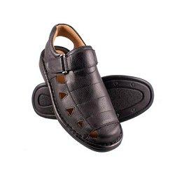 Sandália Masculina Fechada - Preta - FB658P - Pé Relax Sapatos Confortáveis